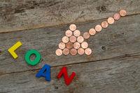 Coin arrow and word LOAN