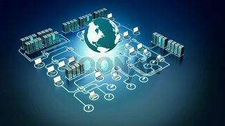 Internet Computer Network Concept