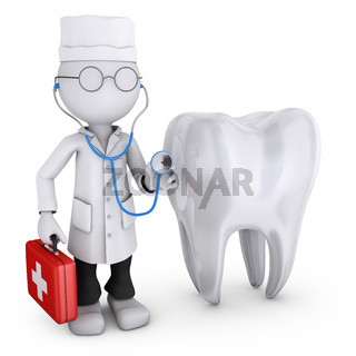 Doctor next to the tooth