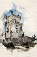 Watercolor Torre de Belem
