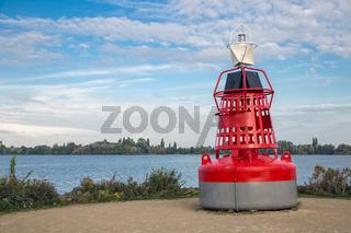 Ornamental buoy near lake at Aalsmeer, The Netherlands