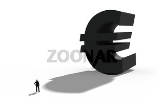 Illustration of the european currency euro, Symbol for business and finance.