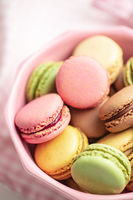 Sweet colorful macarons