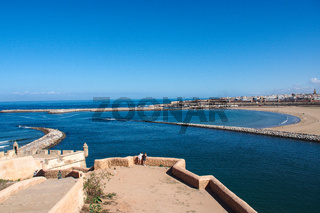 View of the harbour of Rabat, Morocco in Africa