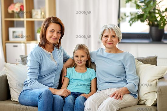 portrait of mother, daughter and grandmother