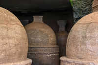 Group of Stupas at Bhaja Caves, Maharashtra, India