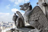 Chimeras on Notre Dame de Paris