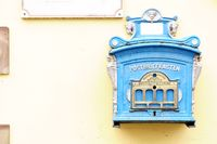 Nostalgic mailbox on the house wall