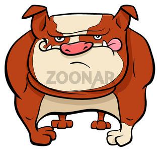 bulldog dog cartoon animal character