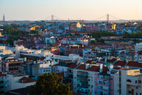 Beautiful Sunset View of Lisbon City, Portugal