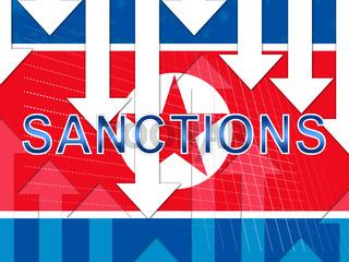 American Economic Sanctions Against North Korea 3d Illustration