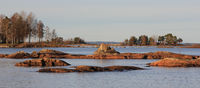 Autumn scene in Vita Sannar, Mellerud commune, Sweden.
