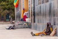 Orthodox believers in Aksum, Ethiopia Africa