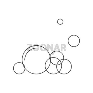 Soapy Bubbles Icon Vector