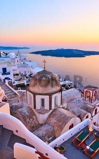 Thira town in Santorini