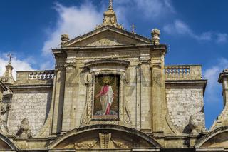 Rabat, Malta St Paul church facade detail.