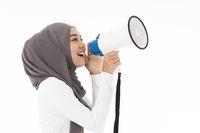 Muslim girl Megaphone