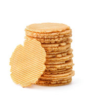 Stack of wheat crispbreads