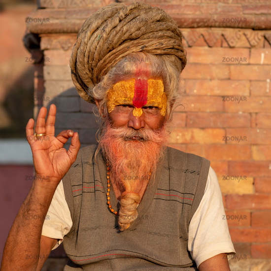 Sadhu with rasta dreadlocks, Pashupatinath temple