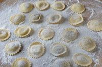 Circular Italian Ravioli, freshly prepared