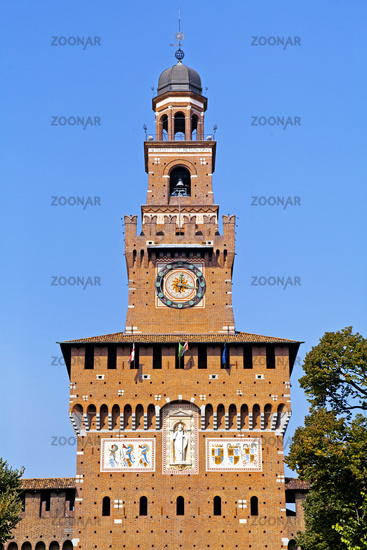 Sforza Castle tower, Milan