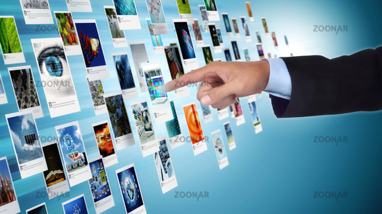 Internet Image and Picture sharing concept