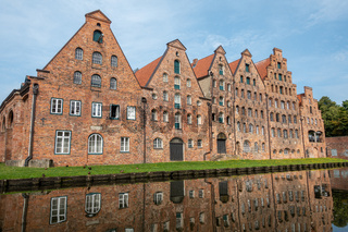 The old salt storehouses are located in the heart of the Hanseatic city of Lübeck at the salt harbour.