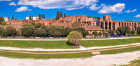 The Circus Maximus and ancient Rome landmarks panoramic view
