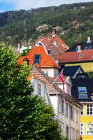 old houses in city of Bergen, Norway