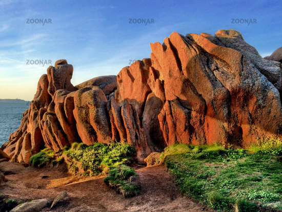 Pink Granite Coast, Part of Northern Brittany in France