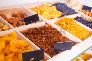 Dry fruits and raisins mix at eco shop