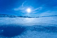 Bright snowy space with space to bring out the title