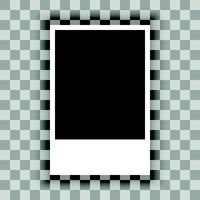 Blank of paper sheet on transparent background. Vector
