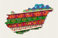 Decorative Hungary map