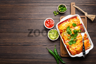 Traditional Mexican enchiladas