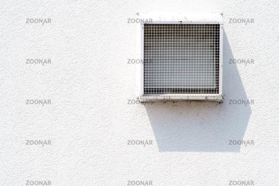 Ventilation grille casts shadows