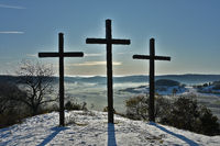 Three Crosses on the Kornbühl, Swabian Alb