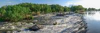 Dam on the Southern Bug River in Migiya, Ukraine