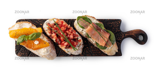 Traditional spanish tapas set