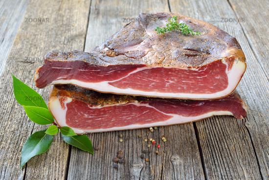 Soutch Tyrolean bacon