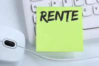 Rente Pension Pensionierung Business Konzept Maus
