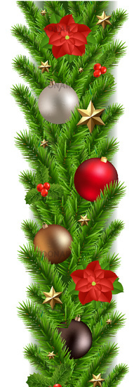 Green Christmas Garland