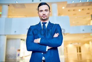Modern Businessman Posing Confidently