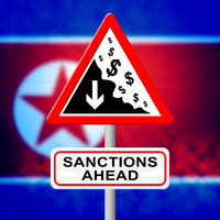 North Korean Sanctions Ahead To Encourage Denuclearization 3d Illustration