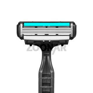 Einwegrasierer zur täglichen Haarentfernung, isoliert auf weißem Hintergrund