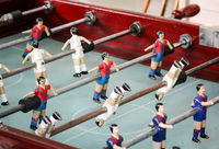 an old table football game
