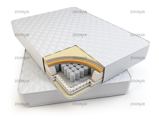 Orthopedic mattress layers and  with pocket springs.