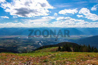 View from the top of a mountain in Creston Valley, Kootenays, BC