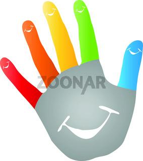 Fünf, Hand, Kinderarzt, Lächeln