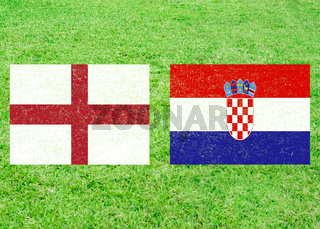 England vs Croatia Soccer Match with Flags Template
